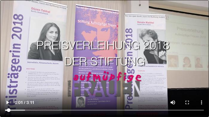 Video der Preisverleihung 2018